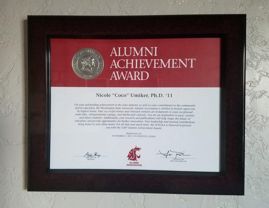 WSU Alumni Achievement Award